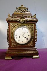Stunning Antique Walnut Bracket Clock. #