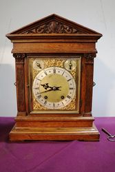 Antique Oak Bracket Clock