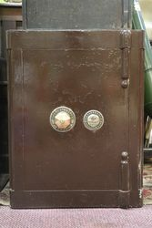 Antique Heavy Iron Safe Hobbs & Co. Cheapside London