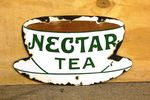 Antique Nectar Tea Double Sided Enamel Sign