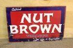 Antique Nut Brown Tobacco Enamel Sign.