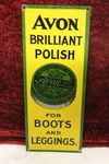 Avon Brilliant Polish Tin Door Plaque