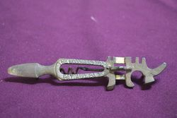 1875 Woodward Iron Multi Tool Glass Cutter Corkscrew
