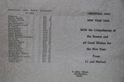 1954  Calendar