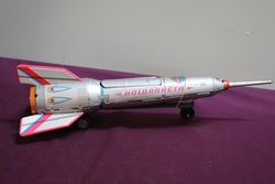 1960 Hungarian Holdraketa Friction Tin Rocket Toy