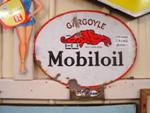 Antique Gargoyle Pump Top Double Enamel Sign