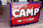 Antique Drink Camp Enamel Sign.