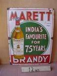 "Classic Marett Brandy Pictorial Enamel Sign ---"""
