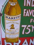 "MARETT BRANDY ENAMEL SIGN --- 18""x24""    --SP28A"