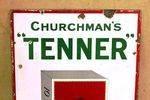 Churchmans Tenner Cigarettes Pictorial Enamel  Sign