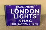 Faulkners London Lights Post Mount Double Enamel Sign