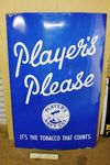 Large Players Please Advertising Enamel Sign