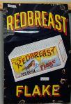 Old Redbreast Flake Pictorial Enamel Sign