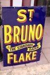 Vintage St Bruno Flake Enamel Sign.