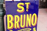 Vintage St Bruno Flake Enamel Sign
