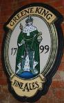Antique Greene King Fine Ales Enamel Sign---