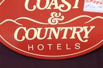 Coast +Country Hotels Brewery Enamel Advertising Sign