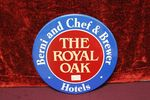 Royal Oak Hotels Brewery Enamel Advertising Sign.