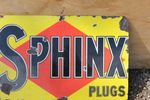 Sphinx Plugs Enamel Sign