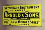 Antique Arnold + Sons Veterinary Enamel Sign.