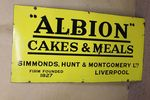 Antique Albion Farming Enamel Advertising Sign.