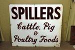 Antique Spillers Farming Enamel Advertising Sign.