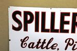 Antique Spillers Farming Enamel Advertising Sign