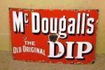 Antique Farming McDougall`s Dip Enamel Sign.