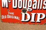 Antique Farming McDougalls Dip Enamel Sign