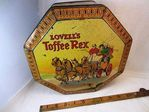 Antique Lovell`s Toffee Rex Tin.