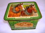 Antique W R Jacob + Co Pictorial Biscuit Tin.