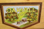 Early Oak Hill Brewery Framed Pictorial Enamel Sign.
