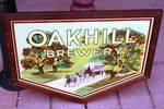 Stunning Oakhill Brewery Framed Enamel Sign,,