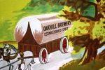 Stunning Oakhill Brewery Framed Enamel Sign