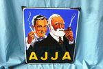 A Stunning Retro Pictorial A J J A Smoking Enamel Sign.