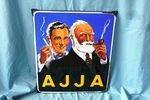 A Stunning Retro Pictorial A J J A Smoking Enamel Sign.