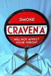 Classic Cravens Double Sided Enamel Sign .
