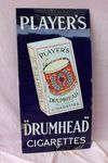 Players Drum Head Cigarette Pictorial Enamel Sign