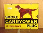 Smoke Garryowen Plug Enamel Sign