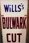 Vintage Wills Bulwark Cut Plug Tabacco Enamel Sign