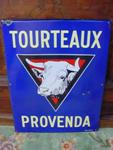 Classic French  Farm Cow Pictorial Enamel Sign-