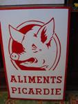 Classic French Pig Farm Pictorial  Enamel Sign