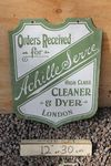 Cleaner And Dyer Double Sided Enamel Sign