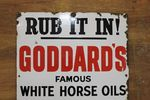 Early Goddards Horse Oil Advertising  Enamel Sign