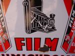 LUMIERE FILM--DOUBLE SIDED ENAMEL SIGN ---SM84