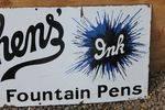 Stephans Inks Enamel Sign