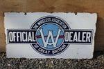 Wireless Dealer Association Double Sided Enamel Sign.