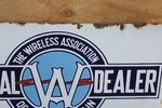 Wireless Dealer Association Double Enamel Sign