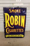 Robin Tobacco Enamel Advertising Sign.#