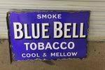 Blue Bell Tobacco Post Mount Enamel Sign. #